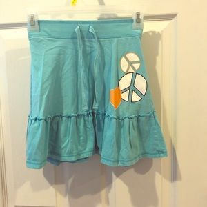 Old Navy Peace Sign Skirt M 8